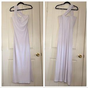 One Shoulder Grecian Style Wedding Dress.